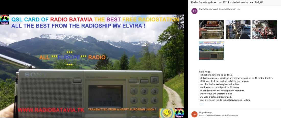 QSL Radio Batavia 1611 kHz