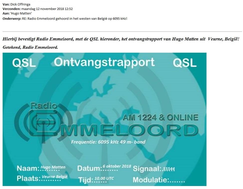 QSL Radio Emmeloord FB